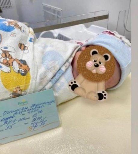 Саша Черно обнародовала первое фото новорожденного сына