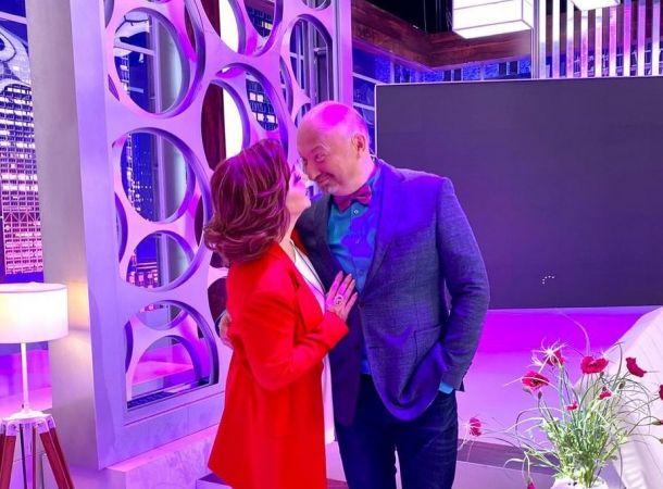 Елена Степаненко не побоялась кокетничать с Юрием Гальцевым на публике