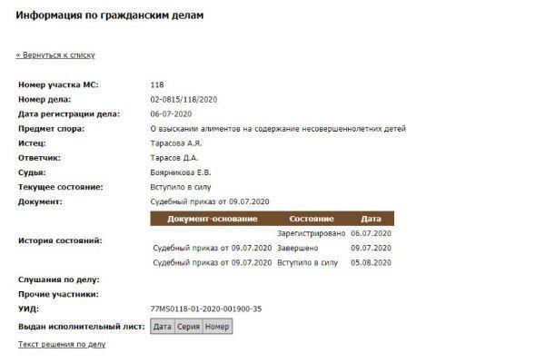 Анастасия Костенко отсудила алименты у Тарасова, не расторгая брак