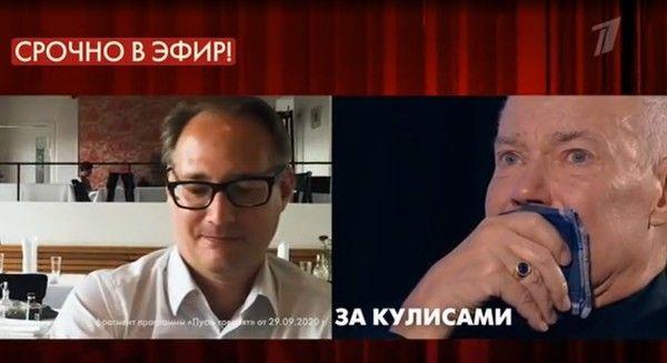 Владимир Конкин разрыдался в эфире ток-шоу из-за сына