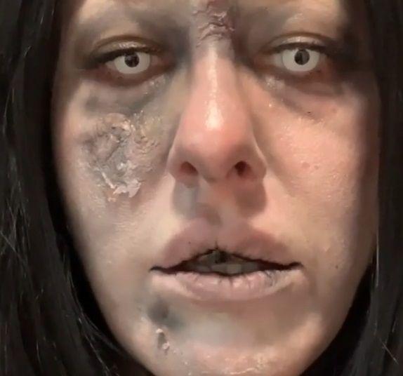 Ксения Собчак примерила жуткий образ ведьмы