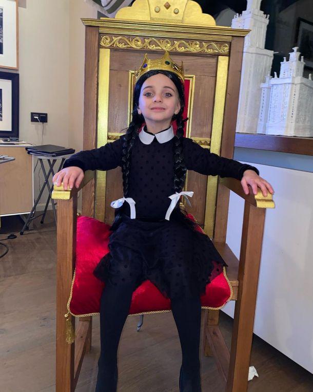 Дочь Татьяны Навки и Дмитрия Пескова вспугнула своим видом на Хэллоуин