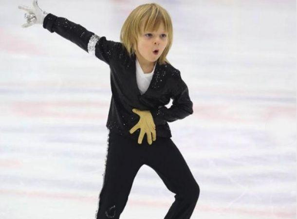 7-летний Саша Плющенко поделился кадрами со съемок сериала