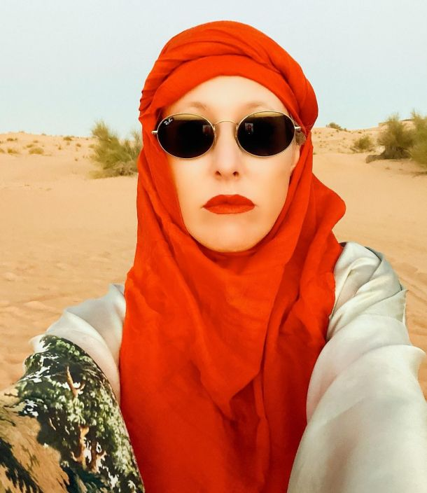 Ксения Собчак примерила хиджаб на отдыхе в Дубае