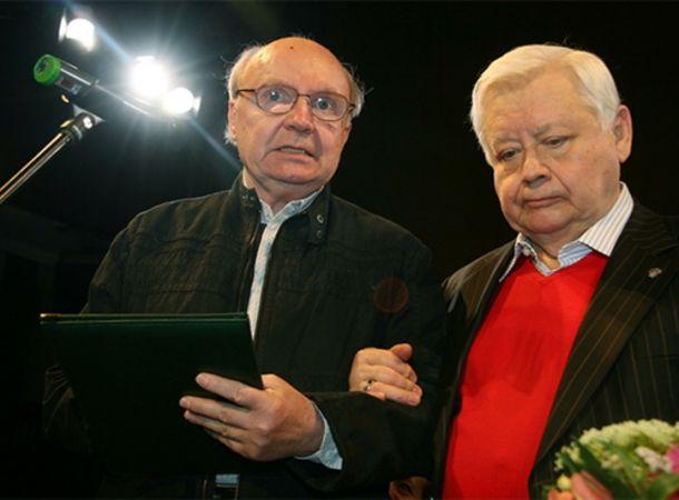 Стало известно о непростых отношениях Андрея Мягкова и Олега Табакова