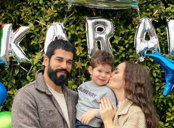 Бурак Озчивит и Фахрие Эвджен с шиком отметили 2-летие сына