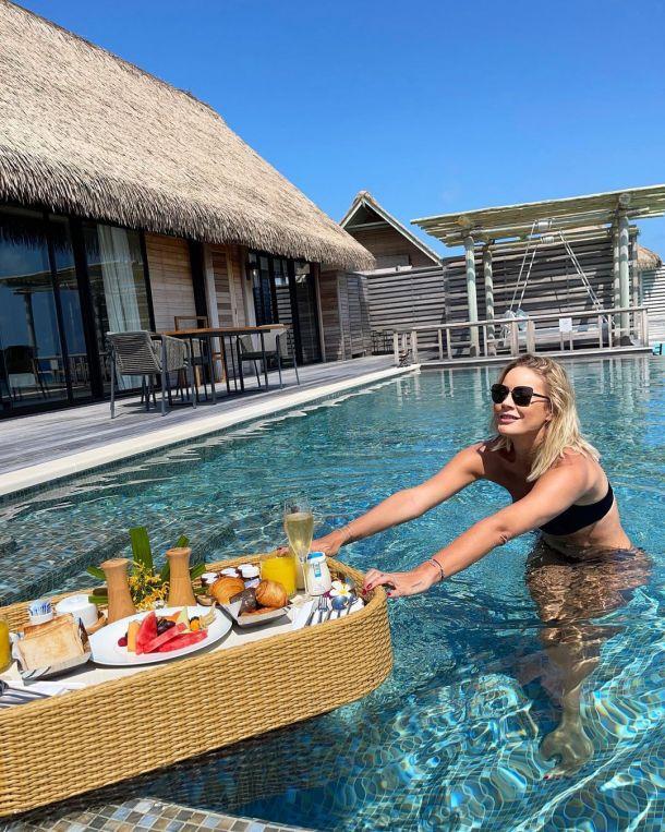 Елена Летучая похвасталась шикарным завтраком на Мальдивах
