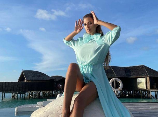 Виктория Боня засветила целлюлит на Мальдивах