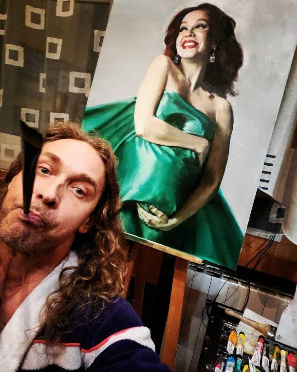 Сергей Глушко удивил Наташу Королеву талантом живописца