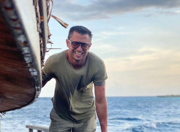 Павел Прилучный впечатлил отличной формой на Мальдивах