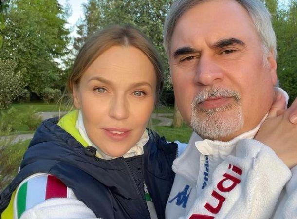 Альбина Джанабаева показала, как Меладзе гуляет с их новорожденной дочкой